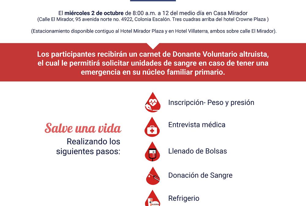 LE INVITAMOS A SER VOLUNTARIO DURANTE LA PRÓXIMA JORNADA DE DONACION DE SANGRE